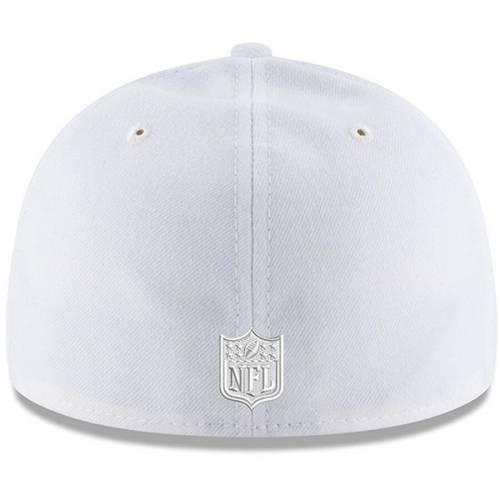 ニューエラ NEW ERA ピッツバーグ スティーラーズ 白 ホワイト バッグ キャップ 帽子 メンズキャップ メンズ 【 Pittsburgh Steelers White On White Low Profile 59fifty Fitted Hat 】 Color