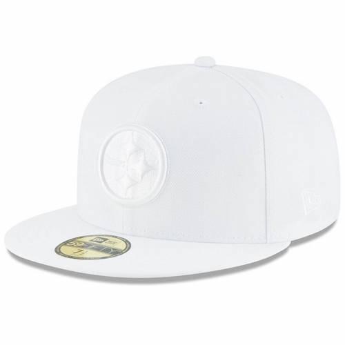 ニューエラ NEW ERA ピッツバーグ スティーラーズ 白 ホワイト バッグ キャップ 帽子 メンズキャップ メンズ 【 Pittsburgh Steelers White On White 59fifty Fitted Hat 】 Color
