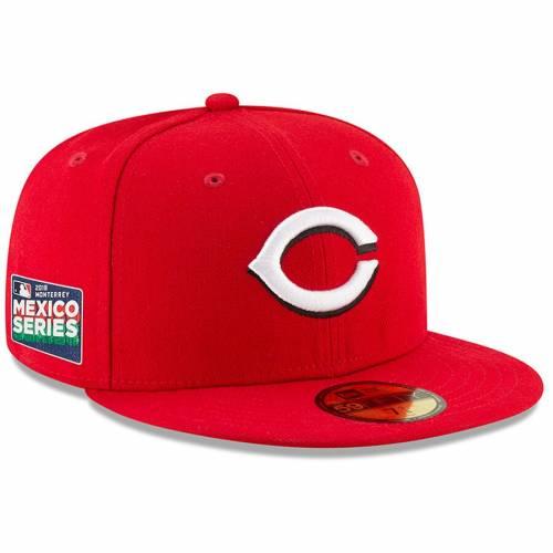 ニューエラ NEW ERA シンシナティ レッズ シリーズ オーセンティック コレクション 赤 レッド バッグ キャップ 帽子 メンズキャップ メンズ 【 Cincinnati Reds 2019 Mexico Series Authentic Collection 59