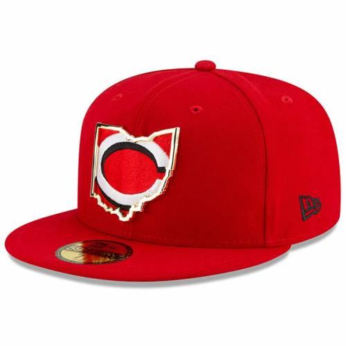 ニューエラ NEW ERA シンシナティ レッズ メタル スケートボード 赤 レッド バッグ キャップ 帽子 メンズキャップ メンズ 【 Cincinnati Reds Metal And Thread State 59fifty Fitted Hat - Red 】 Red