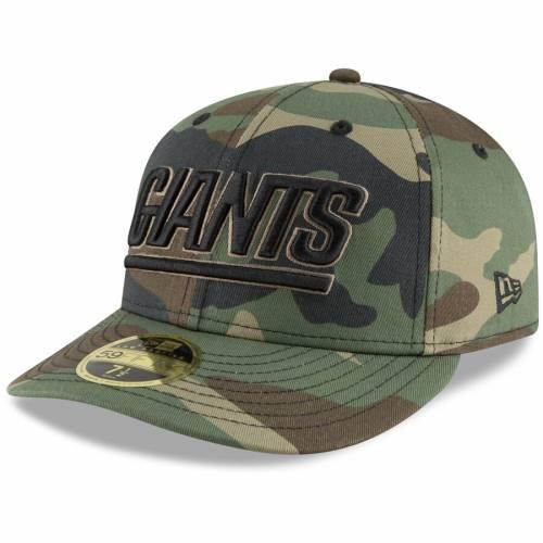 ニューエラ NEW ERA ジャイアンツ チーム バッグ キャップ 帽子 メンズキャップ メンズ 【 New York Giants Team Low Profile 59fifty Fitted Hat - Camo 】 Camo