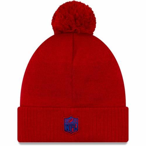 ニューエラ NEW ERA ジャイアンツ サイドライン リベンジ ニット 赤 レッド バッグ キャップ 帽子 メンズキャップ メンズ 【 New York Giants 2019 Nfl Sideline Road Reverse Sport Knit Hat - Red 】 Red
