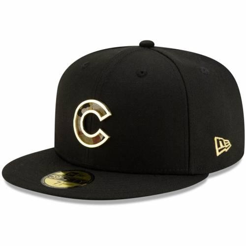 ニューエラ NEW ERA シカゴ カブス メタル 黒 ブラック & 【 BLACK NEW ERA CHICAGO CUBS CAMO METAL THREAD 59FIFTY FITTED HAT 】 バッグ  キャップ 帽子 メンズキャップ 帽子