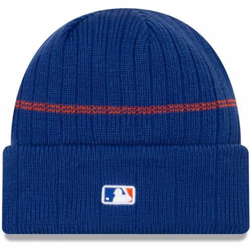 ニューエラ NEW ERA メッツ ロゴ ニット バッグ キャップ 帽子 メンズキャップ メンズ 【 New York Mets Primary Logo On-field Sport Cuffed Knit Hat - Royal 】 Royal