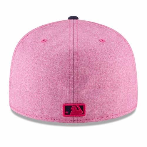 ニューエラ NEW ERA レイズ バッグ キャップ 帽子 メンズキャップ メンズ 【 Tampa Bay Rays 2018 Mothers Day On-field 59fifty Fitted Hat - Pink/blue 】 Pink/blue