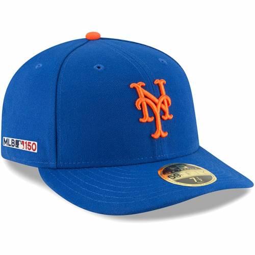 ニューエラ NEW ERA メッツ オーセンティック コレクション バッグ キャップ 帽子 メンズキャップ メンズ 【 New York Mets Mlb 150th Anniversary Authentic Collection Low Profile 59fifty Fitted Hat - Royal 】 Roya