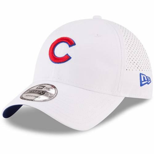 ニューエラ NEW ERA シカゴ カブス 白 ホワイト バッグ キャップ 帽子 メンズキャップ メンズ 【 Chicago Cubs Perforated Pivot 9twenty Adjustable Hat - White 】 White