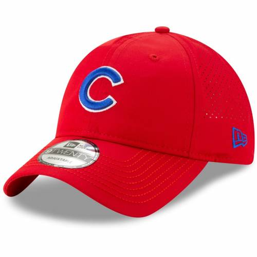 ニューエラ NEW ERA シカゴ カブス 赤 レッド バッグ キャップ 帽子 メンズキャップ メンズ 【 Chicago Cubs Divot Ball Marker 9twenty Adjustable Hat - Red 】 Red