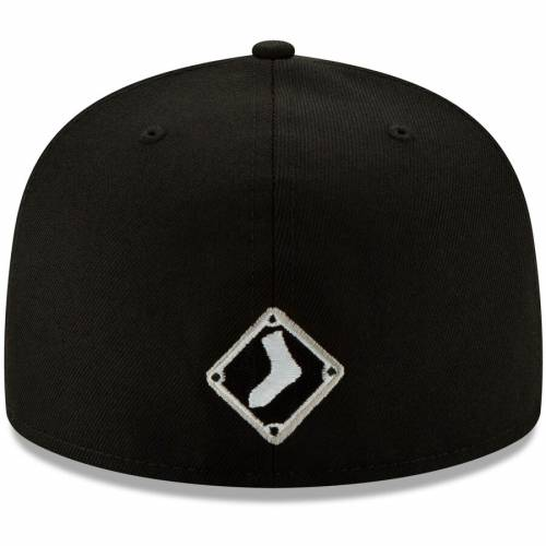 ニューエラ NEW ERA シカゴ 白 ホワイト ロゴ 黒 ブラック 【 WHITE BLACK NEW ERA CHICAGO SOX LOGO ELEMENTS 59FIFTY FITTED HAT 】 バッグ  キャップ 帽子 メンズキャップ 帽子