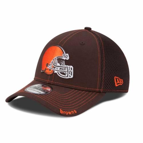 上質で快適 ニューエラ NEW ERA エラ クリーブランド ブラウンズ ネオ 茶色 ブラウン ニューエラ 【 NEO 39THIRTY FLEX HAT BROWN 】 バッグ キャップ 帽子 メンズキャップ 帽子, Excellent One 44c9dd7f