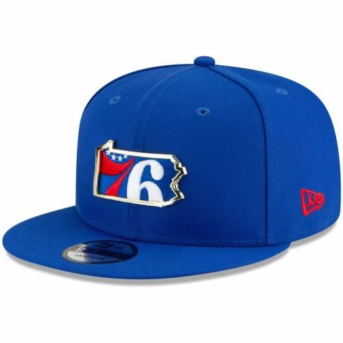 ニューエラ NEW ERA フィラデルフィア セブンティシクサーズ メタル バッグ キャップ 帽子 メンズキャップ メンズ 【 Philadelphia 76ers Metal And Thread 9fifty Adjustable Hat - Royal 】 Royal
