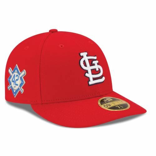 ニューエラ NEW ERA カーディナルス 赤 レッド St. バッグ キャップ 帽子 メンズキャップ メンズ 【 St. Louis Cardinals Jackie Robinson Day Low Profile 59fifty Fitted Hat - Red 】 Red