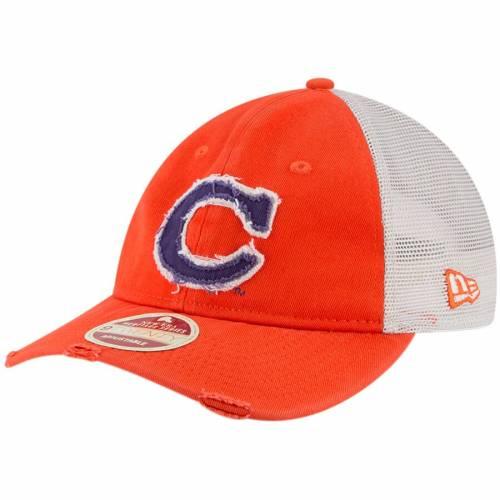 ニューエラ NEW ERA タイガース トラッカー 橙 オレンジ バッグ キャップ 帽子 メンズキャップ メンズ 【 Clemson Tigers Frayed Twill Trucker 9twenty Adjustable Hat - Orange 】 Orange
