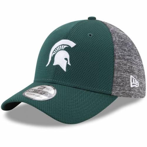ニューエラ NEW ERA ミシガン スケートボード 灰色 グレー グレイ バッグ キャップ 帽子 メンズキャップ メンズ 【 Michigan State Spartans Fierce Fill 39thirty Flex Hat - Green/heathered Gray 】 Green/heathered
