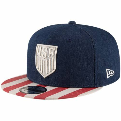 ニューエラ NEW ERA サッカー スナップバック バッグ キャップ 帽子 メンズキャップ メンズ 【 Us Soccer Fully Flagged Snapback Hat - Blue/red 】 Blue/red