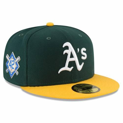 ニューエラ NEW ERA オークランド 緑 グリーン バッグ キャップ 帽子 メンズキャップ メンズ 【 Oakland Athletics Jackie Robinson Day 59fifty Fitted Hat - Green 】 Green