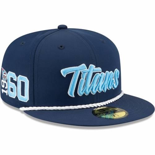 ニューエラ NEW ERA テネシー タイタンズ サイドライン 紺 ネイビー バッグ キャップ 帽子 メンズキャップ メンズ 【 Tennessee Titans 2019 Nfl Sideline Home Official 59fifty 1960s Fitted Hat - Navy 】 Navy