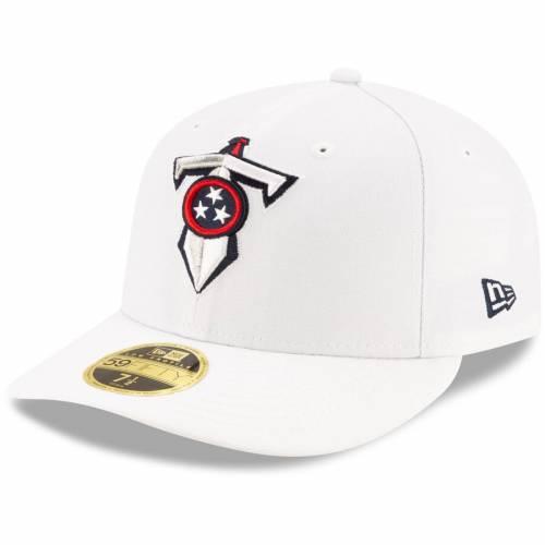 ニューエラ NEW ERA テネシー タイタンズ 白 ホワイト バッグ キャップ 帽子 メンズキャップ メンズ 【 Tennessee Titans Historic Omaha Low Profile 59fifty Fitted Hat - White 】 White