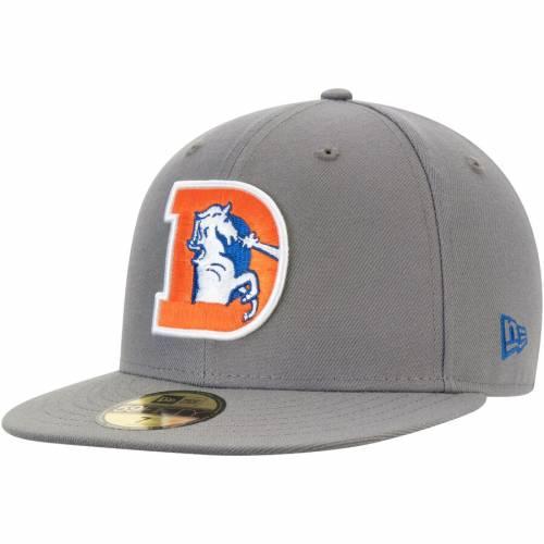 ニューエラ NEW ERA デンバー ブロンコス ロゴ バッグ キャップ 帽子 メンズキャップ メンズ 【 Denver Broncos Throwback Logo Storm 59fifty Fitted Hat - Graphite 】 Graphite
