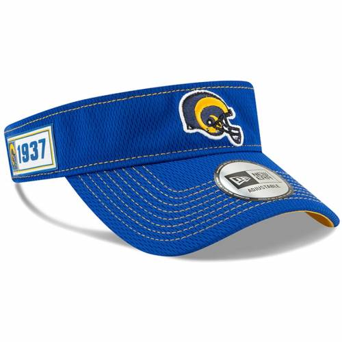 ニューエラ NEW ERA ラムズ サイドライン ヘルメット ロゴ バッグ キャップ 帽子 メンズキャップ メンズ 【 Los Angeles Rams 2019 Nfl Sideline Road Official Helmet Logo Visor - Royal 】 Royal