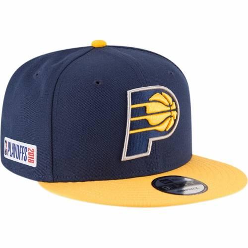 ニューエラ NEW ERA インディアナ ペイサーズ スナップバック バッグ キャップ 帽子 メンズキャップ メンズ 【 Indiana Pacers 2018 Nba Playoffs Two-tone 9fifty Snapback Adjustable Hat - Navy/gold 】 Navy/gold