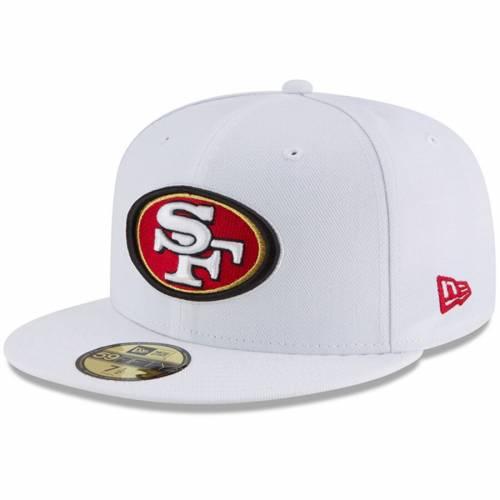 ニューエラ NEW ERA フォーティーナイナーズ 白 ホワイト バッグ キャップ 帽子 メンズキャップ メンズ 【 San Francisco 49ers Omaha 59fifty Fitted Hat - White 】 White