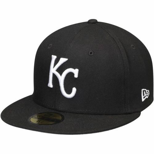 ニューエラ NEW ERA カンザス シティ ロイヤルズ 黒 ブラック バッグ キャップ 帽子 メンズキャップ メンズ 【 Kansas City Royals 59fifty Fitted Hat - Black 】 Black