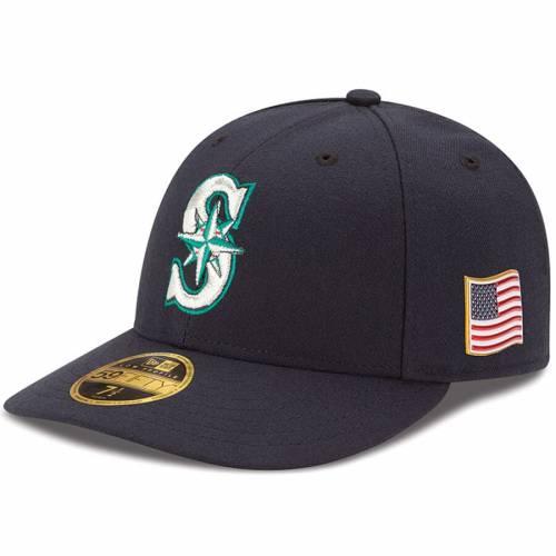 ニューエラ NEW ERA シアトル マリナーズ オーセンティック 紺 ネイビー バッグ キャップ 帽子 メンズキャップ メンズ 【 Seattle Mariners Authentic 9/11 59fifty Low Profile Fitted Hat - Navy 】 Navy