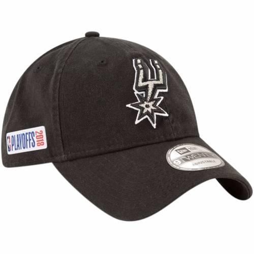 ニューエラ NEW ERA スパーズ 黒 ブラック バッグ キャップ 帽子 メンズキャップ メンズ 【 San Antonio Spurs 2018 Nba Playoffs 9twenty Adjustable Hat - Black 】 Black