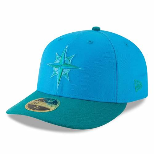 ニューエラ NEW ERA シアトル マリナーズ バッグ キャップ 帽子 メンズキャップ メンズ 【 Seattle Mariners 2018 Players Weekend Low Profile 59fifty Fitted Hat - Blue/green 】 Blue/green