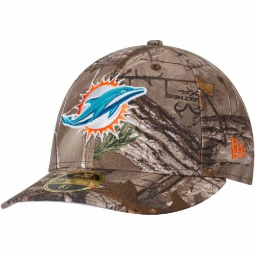ニューエラ NEW ERA マイアミ ドルフィンズ バッグ キャップ 帽子 メンズキャップ メンズ 【 Miami Dolphins Low Profile 59fifty Hat - Realtree Camo 】 Realtree Camo
