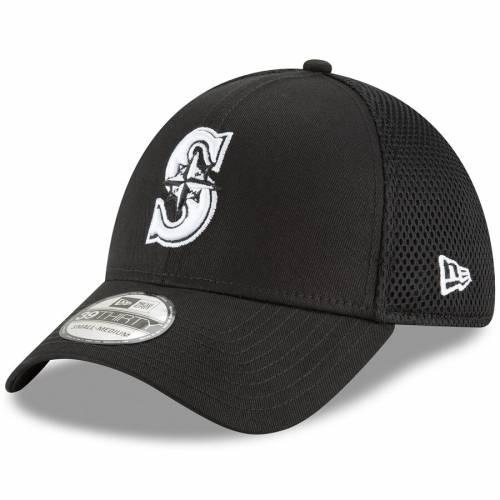 ニューエラ NEW ERA シアトル マリナーズ ネオ 黒 ブラック バッグ キャップ 帽子 メンズキャップ メンズ 【 Seattle Mariners Neo 39thirty Unstructured Flex Hat- Black 】 Black