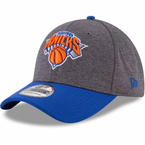 ニューエラ NEW ERA ニックス バッグ キャップ 帽子 メンズキャップ メンズ 【 New York Knicks 39thirty Flex Hat - Heathered Gray/blue 】 Heathered Gray/blue