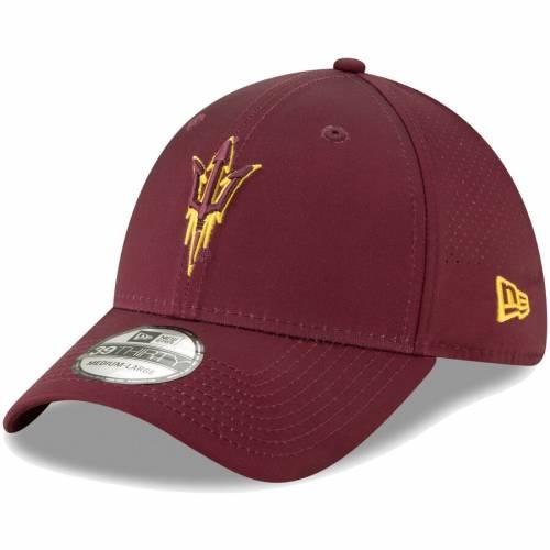 ニューエラ NEW ERA アリゾナ スケートボード バッグ キャップ 帽子 メンズキャップ メンズ 【 Arizona State Sun Devils Perforated Play 39thirty Flex Hat - Maroon 】 Maroon
