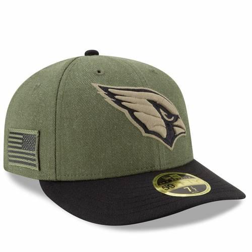 ニューエラ NEW ERA アリゾナ カーディナルス サイドライン バッグ キャップ 帽子 メンズキャップ メンズ 【 Arizona Cardinals 2018 Salute To Service Sideline Low Profile 59fifty Fitted Hat - Olive/black 】 Olive