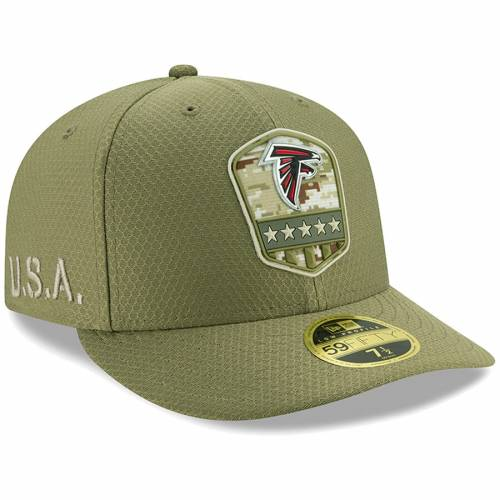 ニューエラ NEW ERA アトランタ ファルコンズ サイドライン オリーブ バッグ キャップ 帽子 メンズキャップ メンズ 【 Atlanta Falcons 2019 Salute To Service Sideline Low Profile 59fifty Fitted Hat - Olive 】