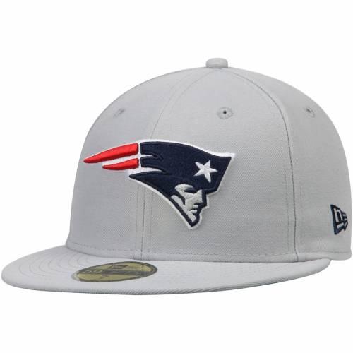 ニューエラ NEW ERA ペイトリオッツ 灰色 グレー グレイ バッグ キャップ 帽子 メンズキャップ メンズ 【 New England Patriots Omaha 59fifty Fitted Hat - Gray 】 Gray