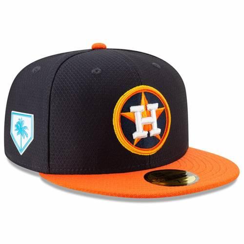 ニューエラ NEW ERA ヒューストン アストロズ スプリング トレーニング バッグ キャップ 帽子 メンズキャップ メンズ 【 Houston Astros 2019 Spring Training 59fifty Fitted Hat - Navy/orange 】 Navy/orange
