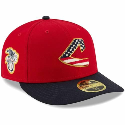 ニューエラ NEW ERA クリーブランド インディアンズ バッグ キャップ 帽子 メンズキャップ メンズ 【 Cleveland Indians 2019 Stars And Stripes 4th Of July On-field Low Profile 59fifty Fitted Hat - Red/navy 】 Red/na