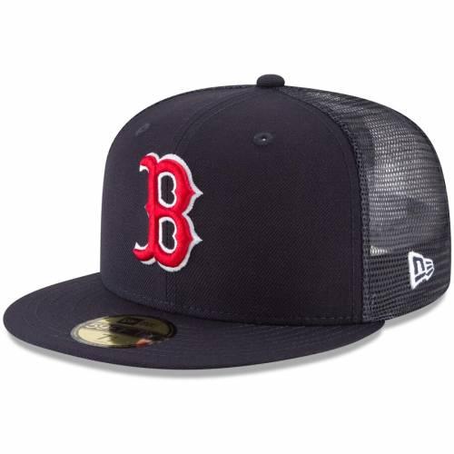ニューエラ NEW ERA ボストン 赤 レッド 紺 ネイビー バッグ キャップ 帽子 メンズキャップ メンズ 【 Boston Red Sox On-field Replica Mesh Back 59fifty Fitted Hat - Navy 】 Navy