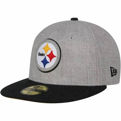 ニューエラ NEW ERA ピッツバーグ スティーラーズ 灰色 グレー グレイ バッグ キャップ 帽子 メンズキャップ メンズ 【 Pittsburgh Steelers Crisp 2 59fifty Fitted Hat - Heathered Gray 】 Heathered Gray