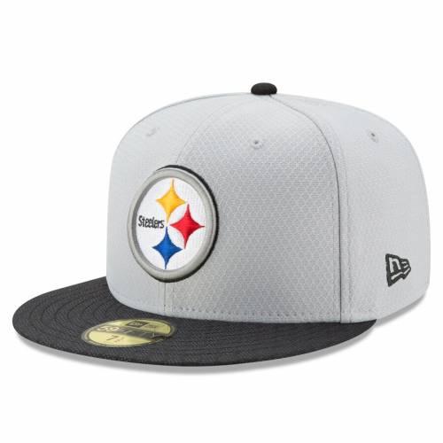 ニューエラ NEW ERA ピッツバーグ スティーラーズ サイドライン 灰色 グレー グレイ バッグ キャップ 帽子 メンズキャップ メンズ 【 Pittsburgh Steelers 2017 Sideline 59fifty Fitted Hat - Gray 】 Gray