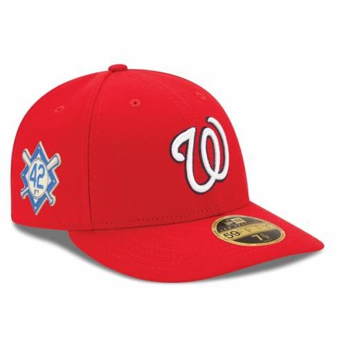 ニューエラ NEW ERA ワシントン ナショナルズ 赤 レッド バッグ キャップ 帽子 メンズキャップ メンズ 【 Washington Nationals Jackie Robinson Day Low Profile 59fifty Fitted Hat - Red 】 Red