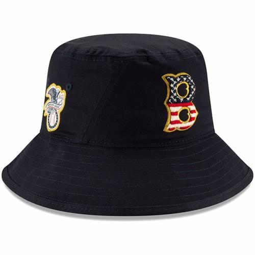 ニューエラ NEW ERA ボストン 赤 レッド 紺 ネイビー バッグ キャップ 帽子 メンズキャップ メンズ 【 Boston Red Sox 2019 Stars And Stripes 4th Of July Bucket Hat - Navy 】 Navy