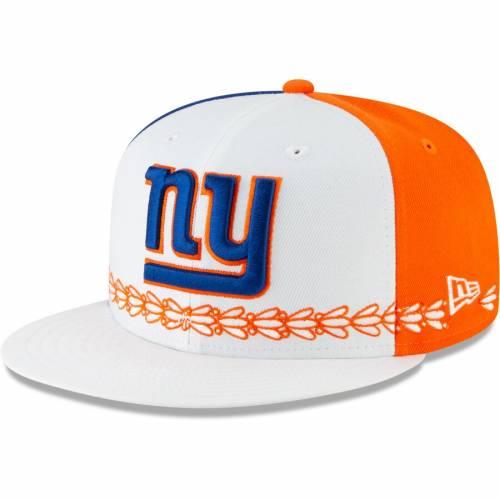 ニューエラ NEW ERA ジャイアンツ 白 ホワイト バッグ キャップ 帽子 メンズキャップ メンズ 【 New York Giants 2019 Nfl Draft Spotlight 59fifty Fitted Hat - White 】 White