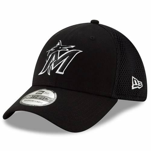ニューエラ NEW ERA マイアミ マーリンズ ネオ 黒 ブラック バッグ キャップ 帽子 メンズキャップ メンズ 【 Miami Marlins 2019 Neo 39thirty Flex Hat - Black 】 Black