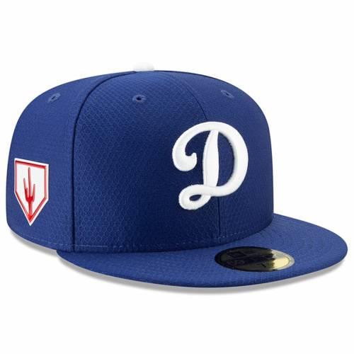 ニューエラ NEW ERA ドジャース スプリング トレーニング 青 ブルー バッグ キャップ 帽子 メンズキャップ メンズ 【 Los Angeles Dodgers 2019 Spring Training 59fifty Fitted Hat - Blue 】 Blue