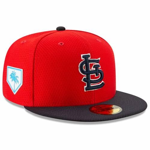ニューエラ NEW ERA カーディナルス スプリング トレーニング St. バッグ キャップ 帽子 メンズキャップ メンズ 【 St. Louis Cardinals 2019 Spring Training 59fifty Fitted Hat - Red/navy 】 Red/navy