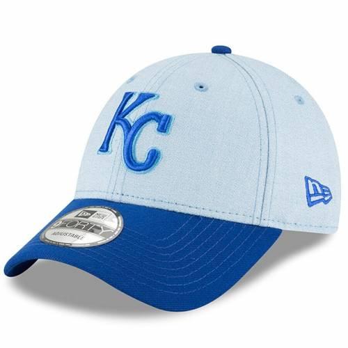 ニューエラ NEW ERA カンザス シティ ロイヤルズ 青 ブルー バッグ キャップ 帽子 メンズキャップ メンズ 【 Kansas City Royals 2018 Fathers Day 9forty Adjustable Hat - Light Blue 】 Light Blue