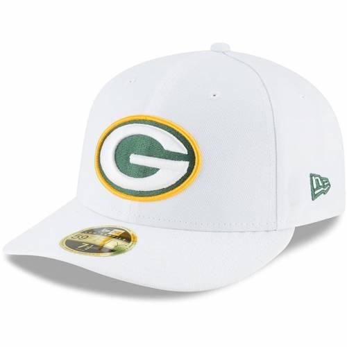 ニューエラ NEW ERA 緑 グリーン パッカーズ 白 ホワイト バッグ キャップ 帽子 メンズキャップ メンズ 【 Green Bay Packers Omaha Low Profile 59fifty Fitted Hat - White 】 White